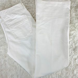 Banana Republic White Wide Leg Trouser Jean Sz 28